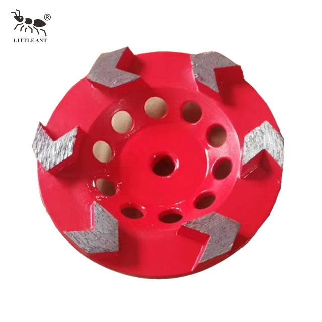 Arrow Type Gear Metal Bond Diamond Concrete Grinding Wheel Red