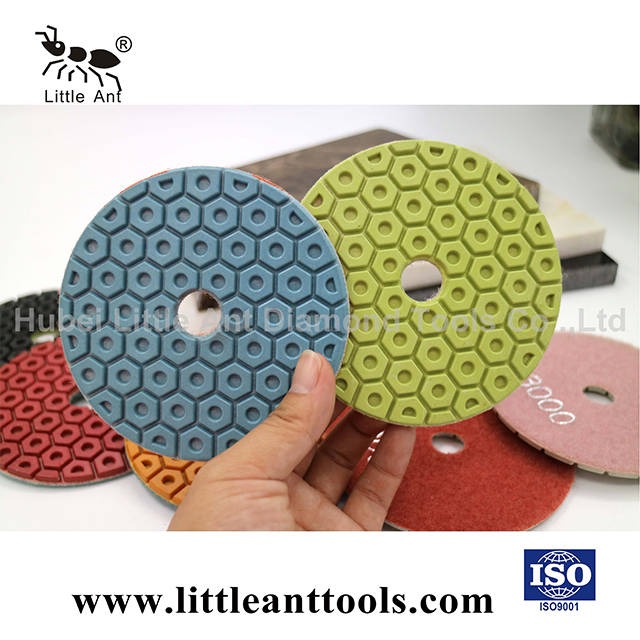 Honeycomb Red Wet Polishing Pad for Marble Granite Natural Stone Synthetic Stone Concrete