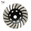 Best Seller Metal Bond Painted Diamond Helical wheel for Grinding Concrete And Stone.